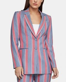 BCBGMAXAZRIA Striped Single-Breasted Blazer   Reviews - BCBGMAXAZRIA - Women - Macy s at Macys