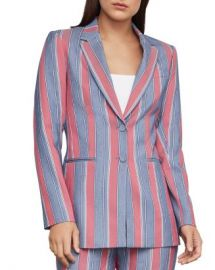 BCBGMAXAZRIA Striped Single-Breasted Blazer Women - Bloomingdale s at Bloomingdales