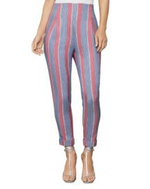BCBGMAXAZRIA Striped Slim Ankle Pant Women - Bloomingdale s at Bloomingdales