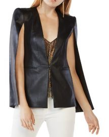BCBGMAXAZRIA Upas Faux Leather Cape at Bloomingdales