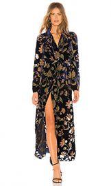 BCBGMAXAZRIA Velvet Wrap Dress in Dark Navy Multi from Revolve com at Revolve