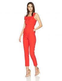 BCBGMAXAZRIA Women s Haida One-Shoulder Jumpsuit at Amazon
