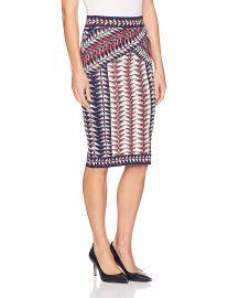 BCBGMAXAZRIA Women s Leger Jacquard Printed Knit Skirt at Amazon