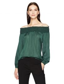 BCBGMAXAZRIA Women s Milou Woven Off the Shoulder Top at Amazon