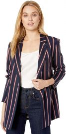 BCBGMAXAZRIA Women s Nautical Striped Blazer at Amazon