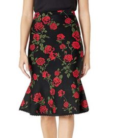 BCBGMAXAZRIA Womens La Rosa Flared Pencil Skirt at Amazon