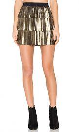 BCBGMAXAZRIA Zana Skirt in Gold  amp  Black from Revolve com at Revolve