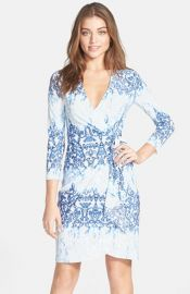 BCBGMAXAZRIA and39Adeleand39 Print Jersey Wrap Dress at Nordstrom