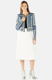 BCBGMAXAZRIA and39Dukeand39 Embroidered Jacquard Jacket at Nordstrom
