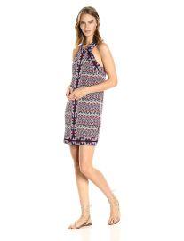 BCBGMax Azria Women s Tesa Halter Knit City Dress at Amazon