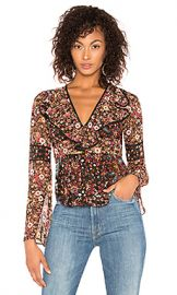 BCBGeneration Bell Sleeve Top in Black Multi from Revolve com at Revolve
