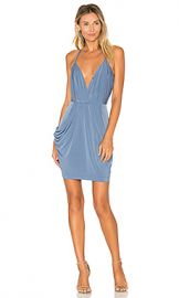 BCBGeneration Faux Wrap Dress in Steel Blue from Revolve com at Revolve