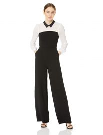 BCBGeneration Women s Two-fer Shirt Jumpsuit at Amazon