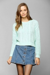BDG Cable-Knit Cropped Sweater at Urban Outfitters