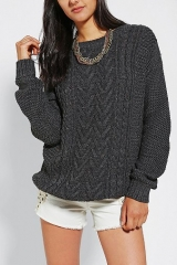 BDG Fall for Cable Knit Sweater at Urban Outfitters