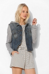 BDG Hooded Denim Trucker Jacket at Urban Outfitters