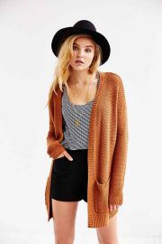BDG London Cardigan in brown at Urban Outfitters