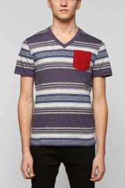 BDG Space Dyed V-neck Tee at Urban Outfitters