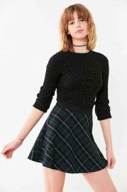 BDG Tai Plaid Circle Skirt at Urban Outfitters
