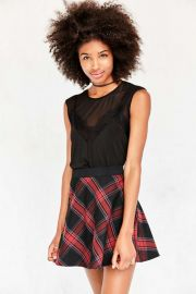 BDG Tai Plaid Circle Skirt at Urban Outiftters