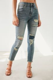 BDG Twig Crop High-Rise Skinny Jean - Distressed Patch at Urban Outfitters