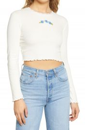 BDG Urban Outfitters Embroidered Lace Trim Pullover   Nordstrom at Nordstrom