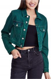 BDG Urban Outfitters Overdyed Crop Denim Jacket   Nordstrom at Nordstrom