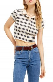 BDG Urban Outfitters Stripe Button-Up Crop Top   Nordstrom at Nordstrom