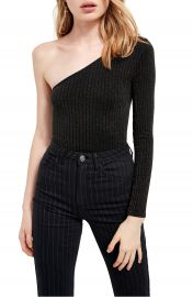 BDG Urban Outfittters One-Shoulder Long Sleeve Thong Bodysuit   Nordstrom at Nordstrom