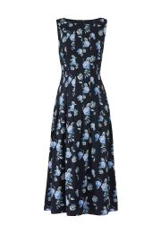 BECKEN FLOWY PLEAT DRESS at Rent The Runway