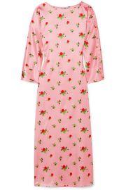 BERNADETTE - Dakota floral-print stretch-silk satin maxi dress at Net A Porter