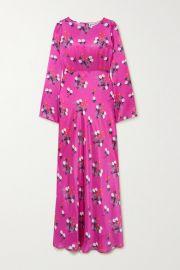 BERNADETTE - Jane floral-print silk-satin maxi dress at Net A Porter