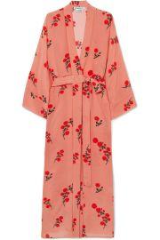 BERNADETTE - Peignoir floral-print silk crepe de chine robe at Net A Porter