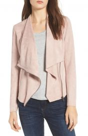BLANKNYC Faux Suede Drape Front Jacket  Regular  amp  Plus Size    Nordstrom at Nordstrom