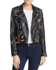 BLANKNYC Budding Romance Embroidered Faux Leather Moto Jacket Women - Bloomingdale s at Bloomingdales