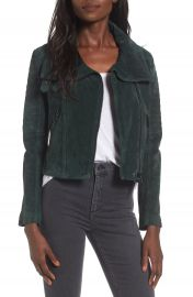 BLANKNYC Crop Suede Moto Jacket at Nordstrom