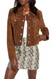 BLANKNYC Crop Suede Trucker Jacket   Nordstrom at Nordstrom