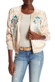 BLANKNYC Denim   Embroidered Bomber Jacket  at Nordstrom Rack