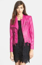 BLANKNYC Faux Leather Jacket in pink at Nordstrom