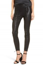 BLANKNYC Lace-Up Faux Leather Pants at Nordstrom