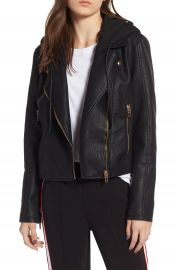 BLANKNYC Meant to Be Moto Jacket with Removable Hood   Nordstrom at Nordstrom