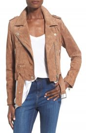 BLANKNYC Morning Suede Moto Jacket at Nordstrom