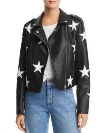 BLANKNYC Star Faux Leather Moto Jacket Women - Bloomingdale s at Bloomingdales
