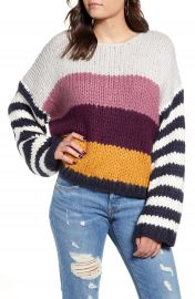 BLANKNYC Stripe Oversize Sweater   Nordstrom at Nordstrom