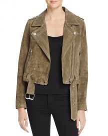 BLANKNYC Suede Moto Jacket Olive at Bloomingdales