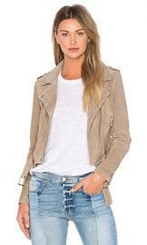 BLANKNYC Suede Moto Jacket in Sand Stoner from Revolve com at Revolve