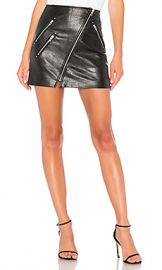 BLANKNYC Vegan Leather Front Zip Mini Skirt in House Party from Revolve com at Revolve