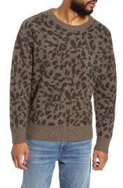 BLDWN Nevill Leopard Crewneck Yak  amp  Wool Sweater   Nordstrom at Nordstrom