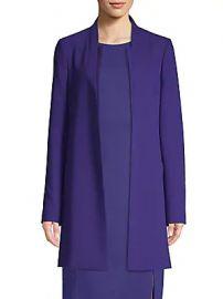BOSS - Celasa Textured Crepe Collarless Coat at Saks Fifth Avenue