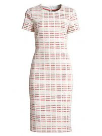 BOSS - Decka Check Short-Sleeve Sheath Dress at Saks Fifth Avenue